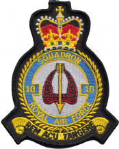 No. 10 Squadron Royal Air Force RAF Crest MOD Embroidered Patch